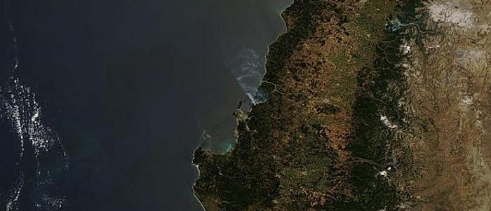 Imagen del satélite Aqua Modis