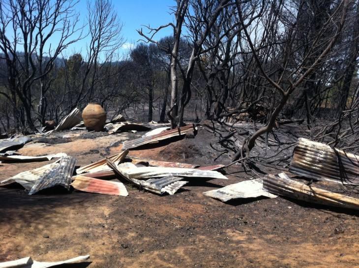 Galpón incendiado en Florida | Pedro Cid (RBB)