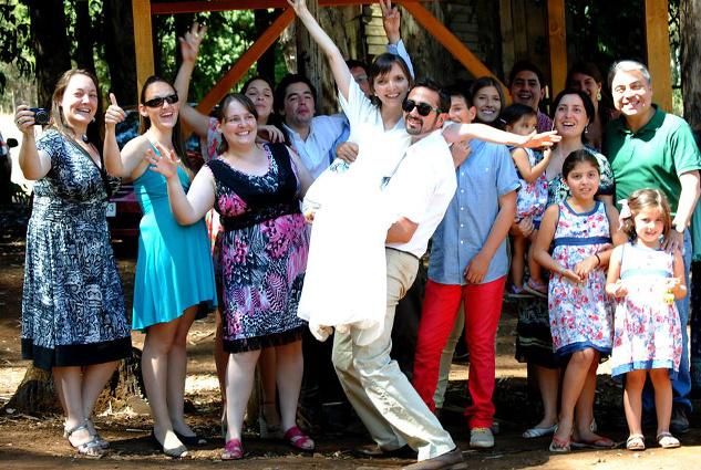 Pablo Gómez y Pilar Gaete en su matrimonio