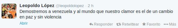 Twitter   @Leopoldolopez