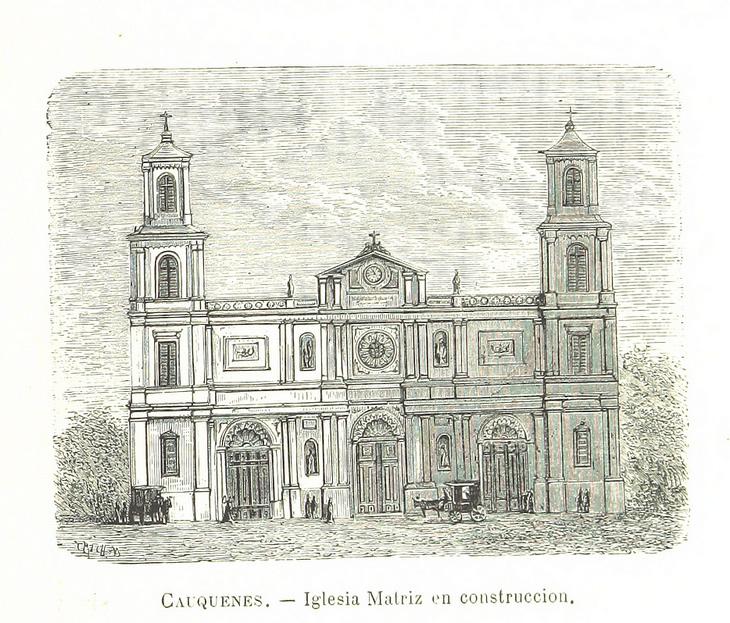 Cauquenes - Iglesia matriz en construcción