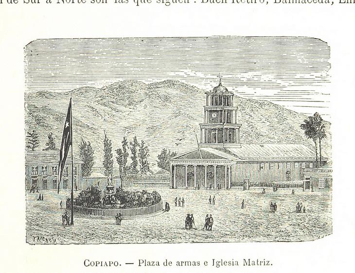 Copiapó - Plaza de Armas e Iglesia matriz