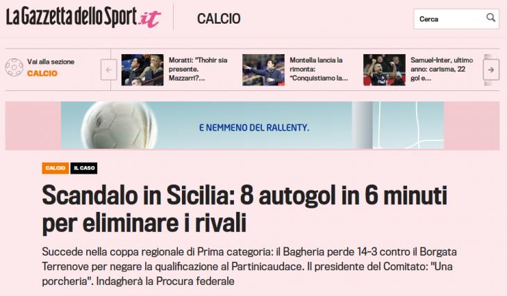 la Gazzetta de llo Sport