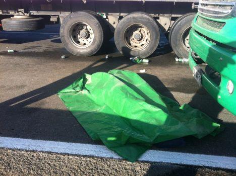 Cuerpo del malogrado camionero | Sergio Osses (RBB)