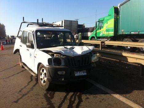 Camioneta involucrada en el accidente | Sergio Osses (RBB)