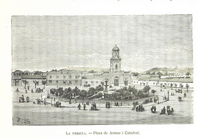 La Serena - Plaza de Armas y Catedral