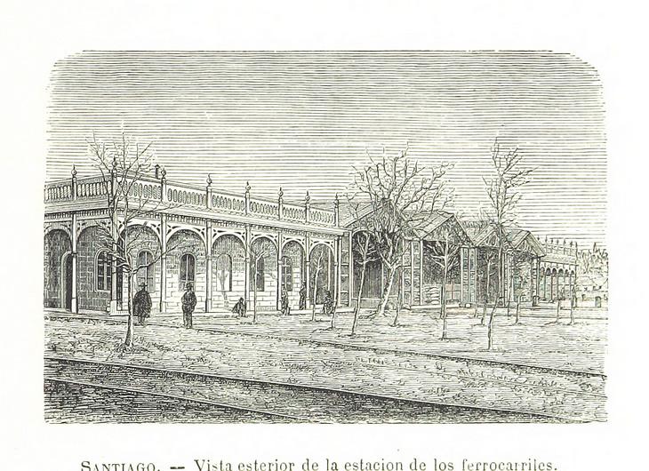Santiago - Exterior estación ferrocarriles
