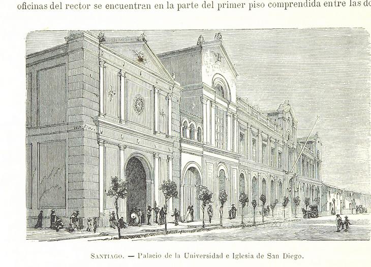 Santiago - Palacio de la Universidad e Iglesia de San Diego