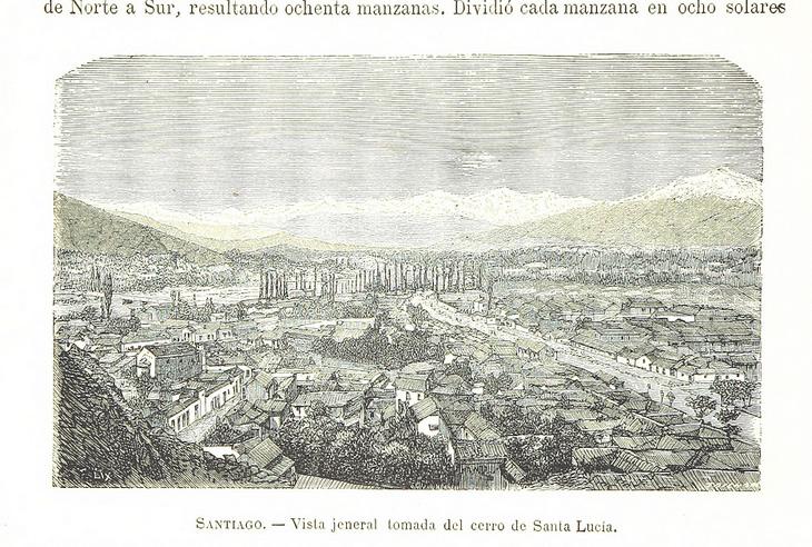 Santiago - Vista general cerro Santa Lucía