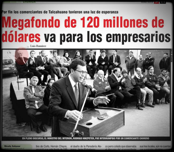 Don Luis Ramírez invitado a la ceremonia | Recorte de diario Crónica