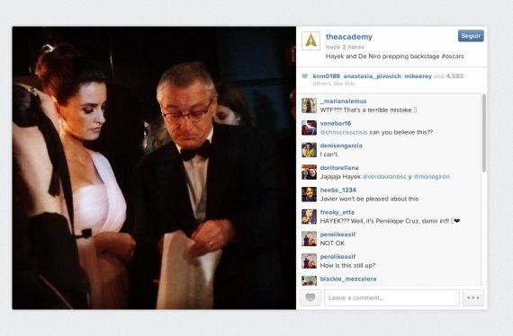 La foto subida a Instagram | Premios Óscar