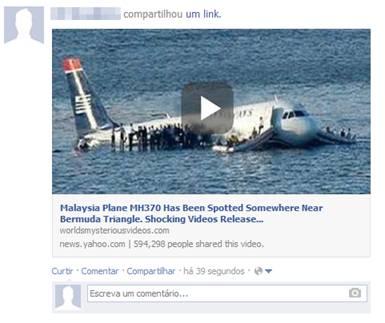 La falsa noticia propagada en Facebook