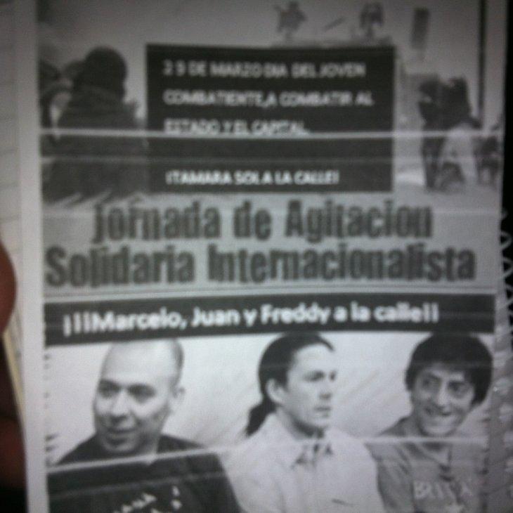 Panfleto encontrado en el lugar | Rodrigo Pino (RBB)