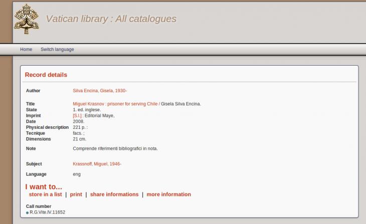 Biblioteca Vaticana | http://opac.vatlib.it