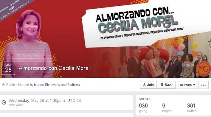Almorzando con Cecilia Morel | Facebook