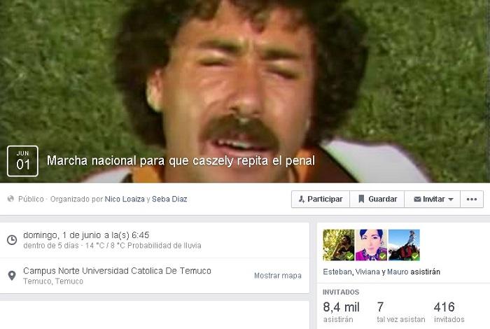 Marcha para que Caszely repita el penal | Facebook