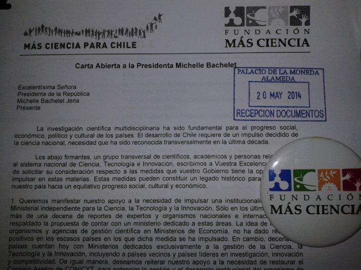Carta | Más Ciencia para Chile ©