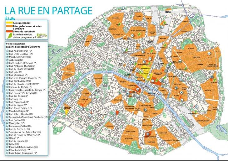 Nuevo mapa de velocidad vial en París | World Streets