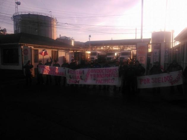 Huelga de conductores Transportes de combustible  Enex (Ex Shell) | Lautaro Yañez