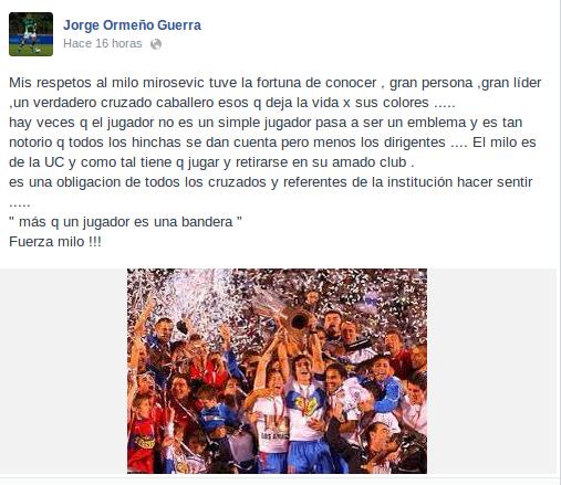 Jorge Ormeño | Facebook