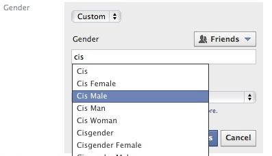 Opción de género en Facebook | taedc (CC)
