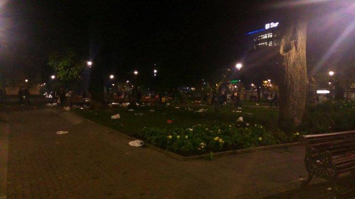 Plaza Independencia tras festejos | Amparo Montoya (BBCL)
