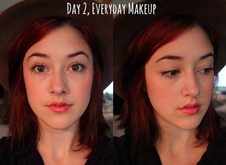 Día de poco maquillaje