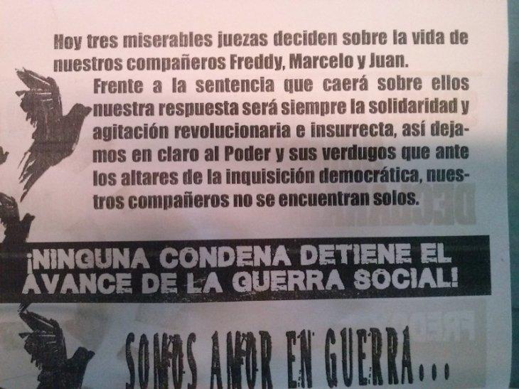 Panfleto lanzado por familiares | Lorena Cruzat (RBB)