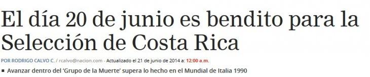 La nación Cost Rica