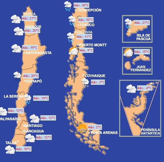 Fuente: Dirección Meteorológica de Chile