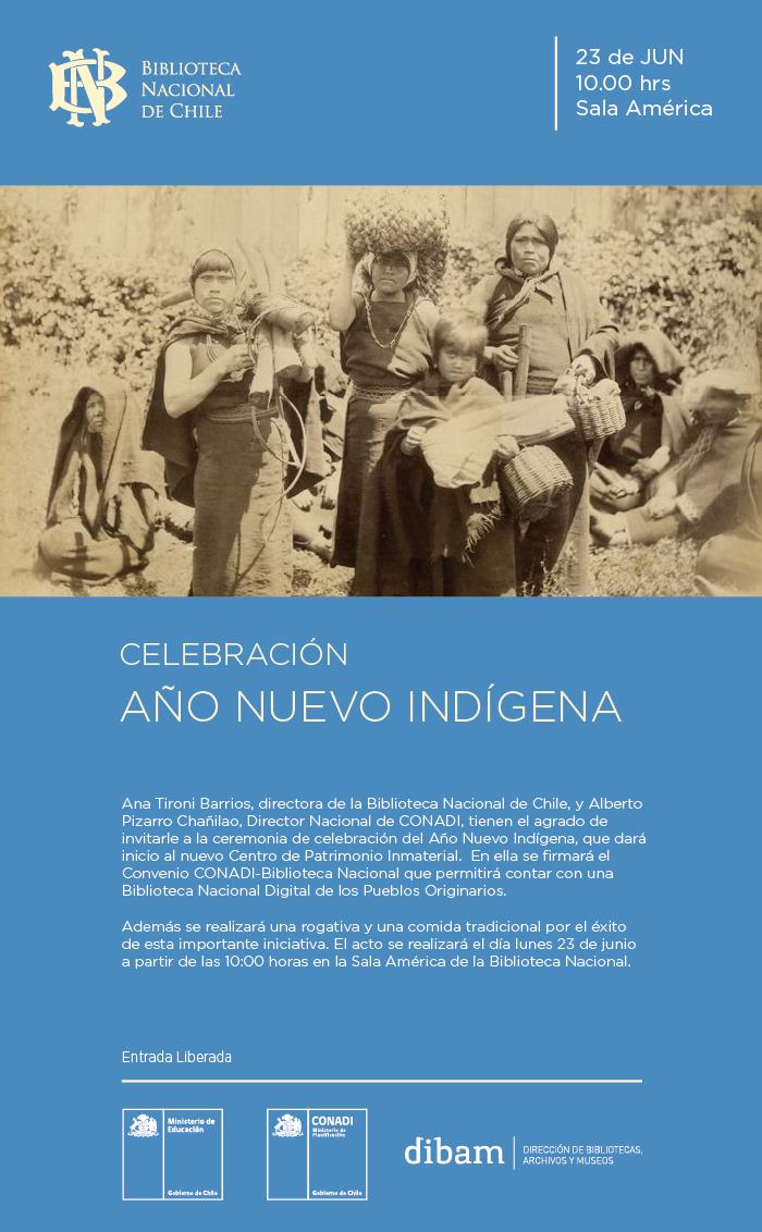 Invitación Año nuevo indígena- Biblioteca Nacional
