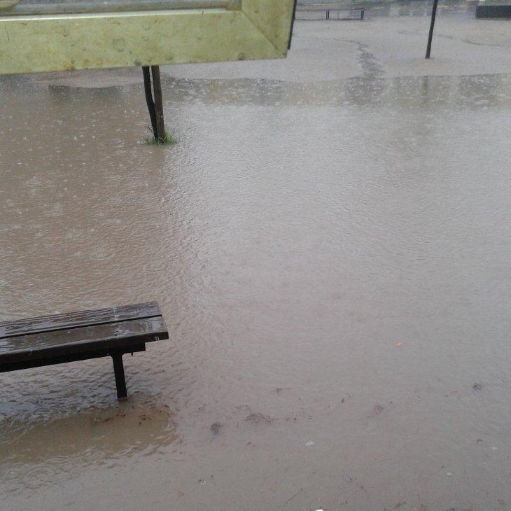 Inundación en el liceo   RBB