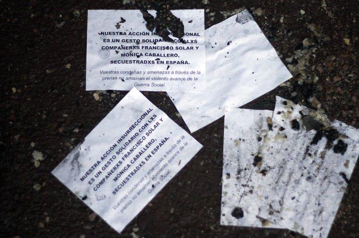 Panfletos hallados en Iglesia Santa Ana | Francisco Castillo | Agencia UNO