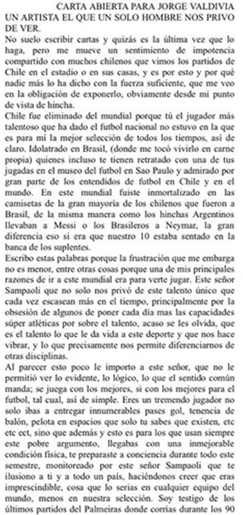 Carta de Andrés Longton