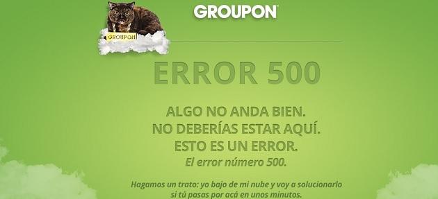 Error en Groupon