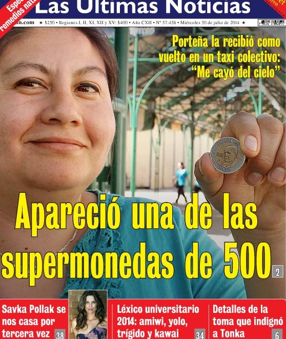 Paola Baez en la portada de LUN