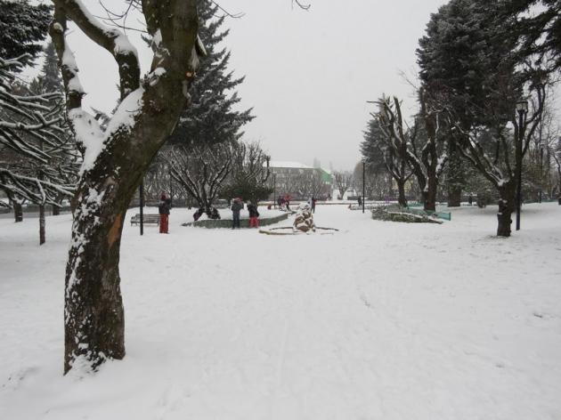 Primera nevad en Coyhaique | Ricardo Orellana