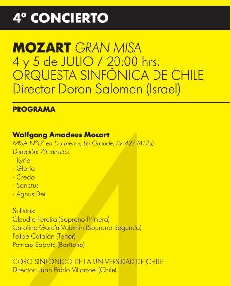 Programa cuarto concierto