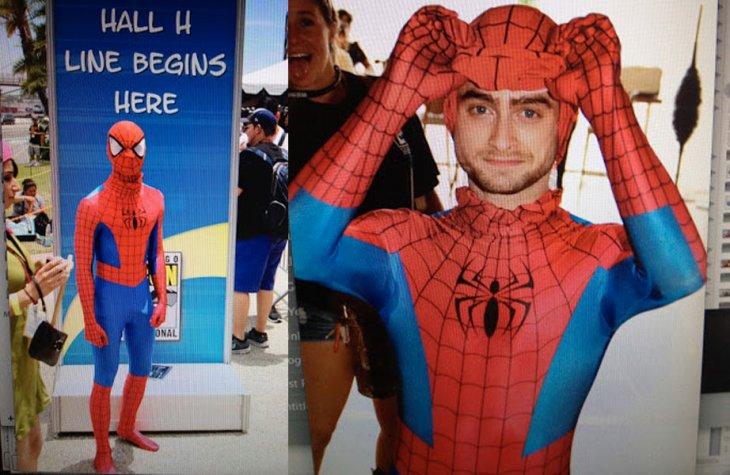 Daniel Radcliffe infiltrado en la Comic Con | Twitter