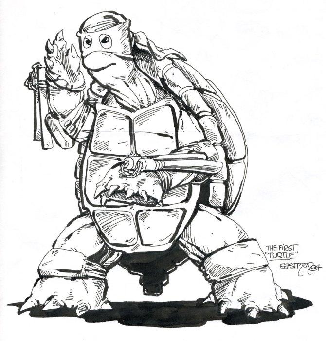 Primer boceto de una Tortuga Ninja | Kevin Eastman
