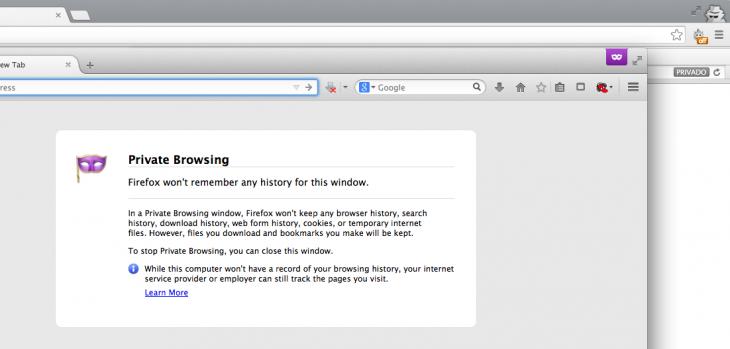 Captura de pantalla de navegadores con sesiones privadas | Eduardo Woo