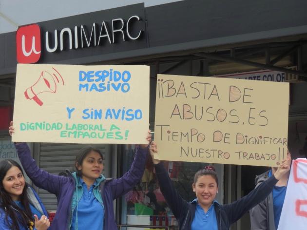Empaques despedidos de supermercado Unimarc | Nelson Sanhueza Vásquez