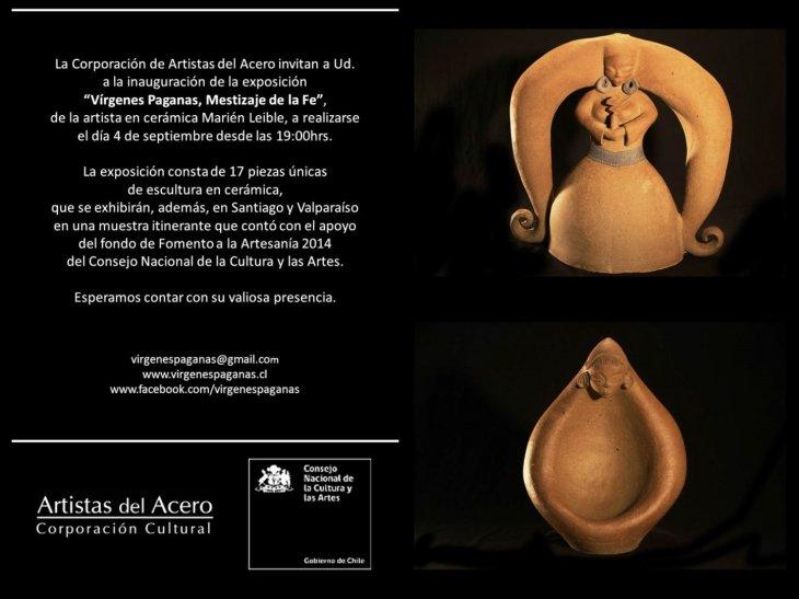 Invitación Vírgenes Paganas, Artistas del Acero