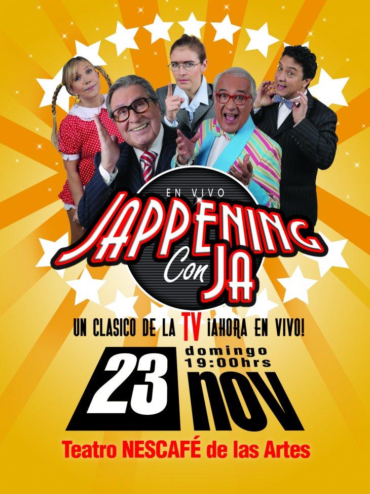 Afiche show en vivo de Jappening con Ja