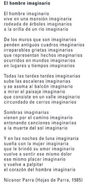 Poema El Hombre Imaginario- CNCA
