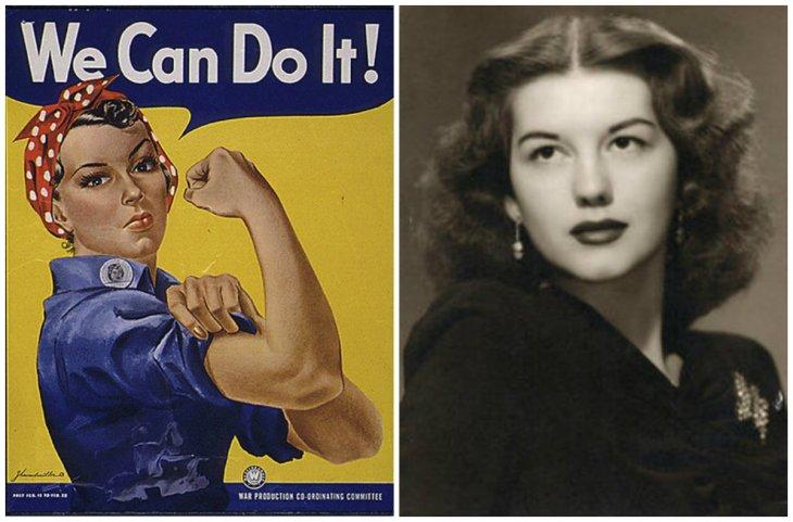 El afiche original y Geraldine Doyle | Wikimedia Commons
