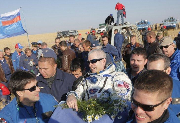 El astronauta Steve Swanson / AFP