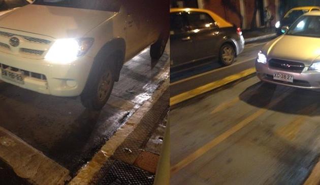 Mal uso de ciclovía de calle Rosas | Gustavo Andrés Henríquez Veas