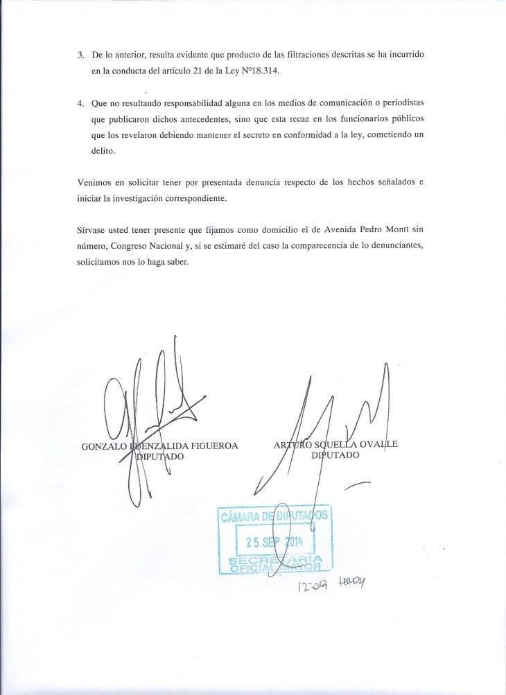 Oficio de parlamentarios