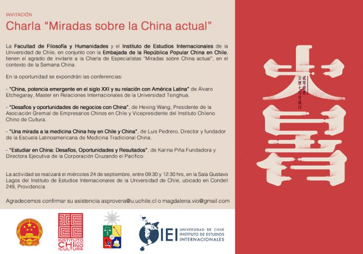 Invitación Charla MIRADAS SOBRE LA CHINA ACTUAL
